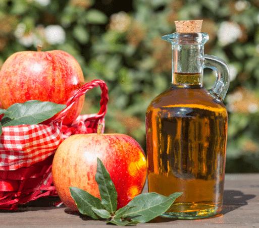 Apple vinegar for black spots